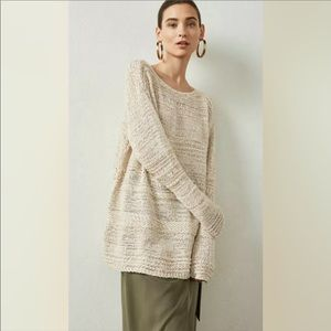 NWT BCBGMAXAZRIA / CREAM LONG KNIT SWEATER